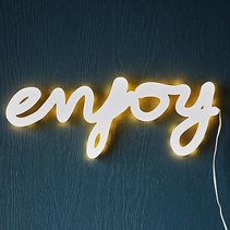 Wall light sign - Enjoy
