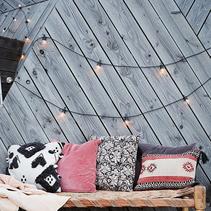 Ljusslinga outdoor svart/klar