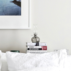 Fotogenlampa Lily rund grå / nickel - Strömshaga
