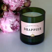 Champagne Drappier Rosé Candle