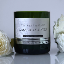 Champagne Lasseaux Silver Candle