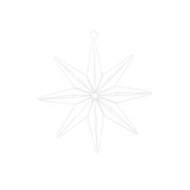Hänge Star 8 point (20 cm) - House Doctor