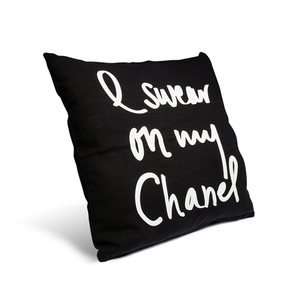 I Swear On My Chanel Noir Pillow