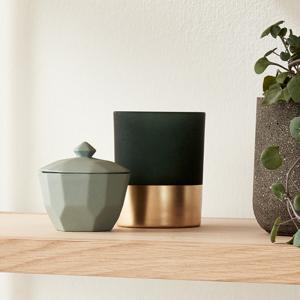 Skål låg i keramik