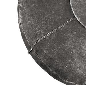 Puff i läder (svart)