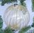 Julgranskula i glas och guldränder (10 cm)