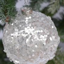 Julgranskula med glitter