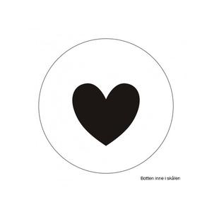 Vit skål med svarta hjärtan