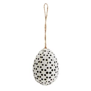 Hängande ägg vit med svarta prickar
