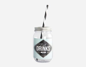 """Water bottle """"Cool drinks"""" med sugrör"""