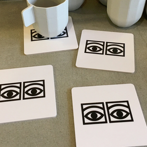 Ögon Cacao glasunderlägg Svarta ögon - Olle Eksell
