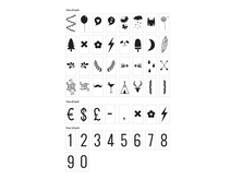 Lightbox symbolset: Nummer & symboler