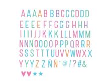Lightbox letterset: Pastell