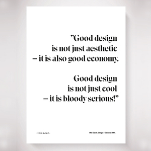 Poster design = ekonomi 1964 quote (Olle Eksell)