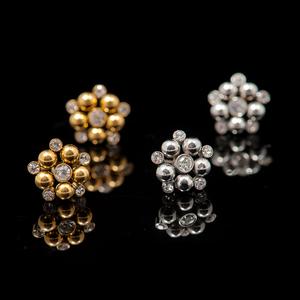 Örhänge bright beads (Stål) - Bud to Rose