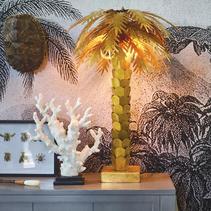 Bordslampa palm guld