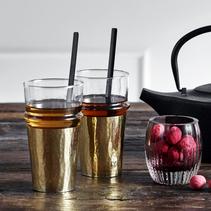 Dricksglas med hållare av metall - Nordal