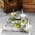 Glasmugg med lock och sugrör