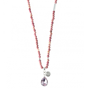 Halsband Santa Cruz pink (90), silver - Bud to Rose