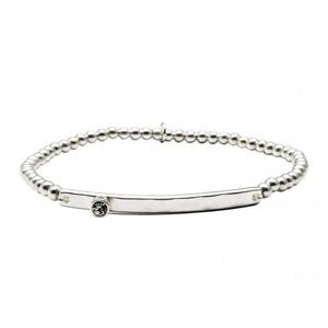 Armband Lulu silver kristall - Bud to Rose
