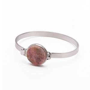 Armband rock rosa (stål) - Bud to rose