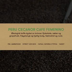 Peru Cecanor cafe Femenino kaffe