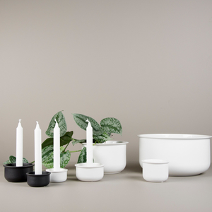 Tub candle small white - DBKD