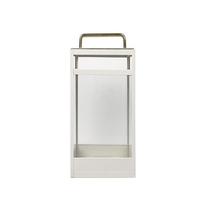 Lanterna vit i metall (stor)