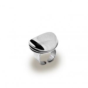 Ring Wave layer (silver) - Bud to Rose
