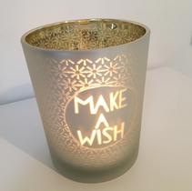 Ljuslykta guld - Make a wish