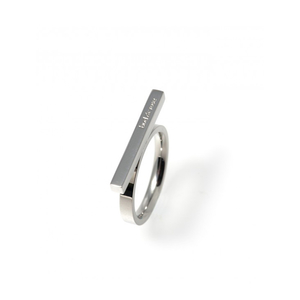 Bar ring silver - Bud to rose