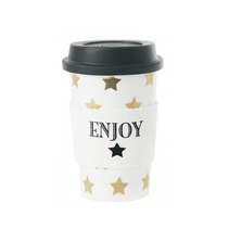 Travel to-go mugg (golden stars)