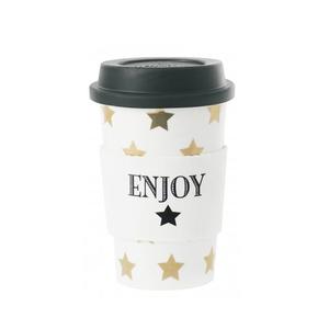 Travel to-go mugg (golden stars)