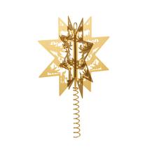 Förgylld toppstjärna i mässing och guld - HC andersen