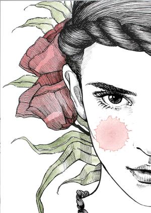 "Poster ""Blomsterflickan"""