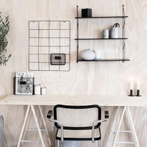 Hylla Halltorp svart (mellan) - Storefactory