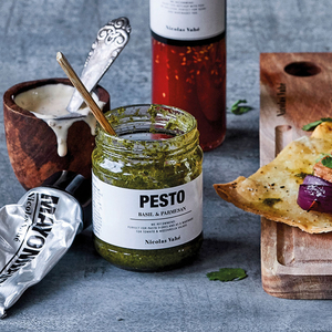 Pesto med basilika & parmesan - Nicolas Vahé