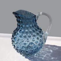 Linné Carafe, rund modell (liten blå)