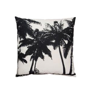 """Kudde """"Palms"""" i svart och vit/sand"""