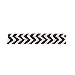 Tejp vit/svart zig zag